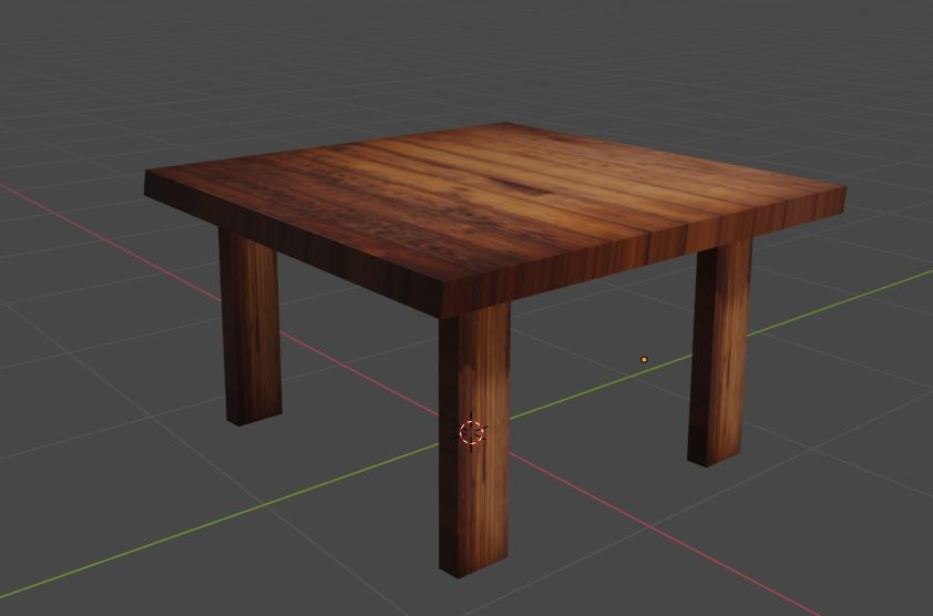 Wood textured table preview image 1